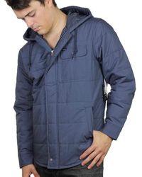 Brixton Cass Hood Jacket - Steel - Blue