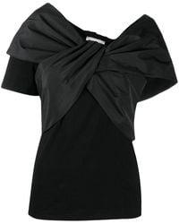 Alexander McQueen Women's 646537qlaaa1000 Black Cotton T-shirt