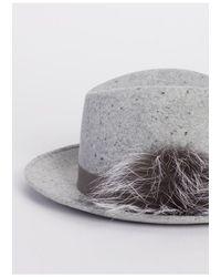 Fabiana Filippi Fedora Hat - Grey