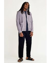 Wax London - Wax Mens Chet Jumbo Cord Grey Overshirt - Lyst