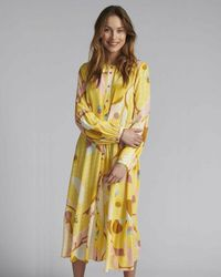 Numph Nucasey Print Dress - Yellow