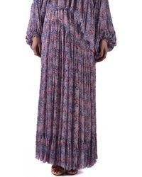 Philosophy Di Lorenzo Serafini - Purple Floral Skirt - Lyst