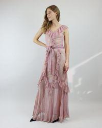 Cecilia Prado Pink Shimmer Waterfall Dress