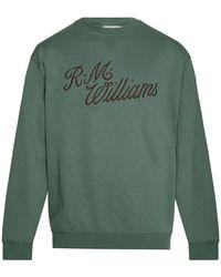 R.M.Williams R.m.w Script Crew Kneck Jumper - Green