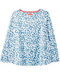Joules Ladies Harbour Swing Long Sleeve Jersey Top - Blue