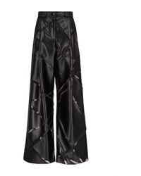 Emporio Armani Women's Pants Palazzo Blacks - White