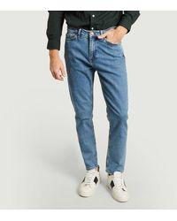 Samsøe & Samsøe Cosmo Slim Fit Jeans Light Ozone Marble Samsoe - Samsoe - Blue