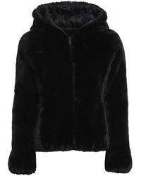 Save The Duck Eco Fur And Nylon Reversible Down Jacket I - Black