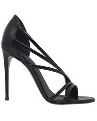 Le Silla 8537q100r1ppka8001 Black Patent Scarlet 100 Sandals