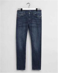GANT Maxen Extra Slim Fit Jeans Colour: Dark Worn In - Blue
