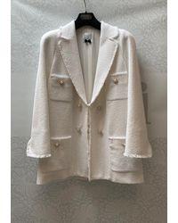 Edward Achour Paris Edward Achour White Tweed Jacket 421006