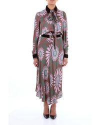 Mariagrazia Panizzi Long Dresses Women Pink And Green Mud - Brown