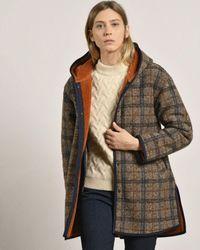 Mat De Misaine Blanket Check Coat - Brown