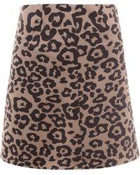 Lardini Mini Skirt With Animalier Motif - Multicolour