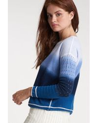 Lisa Todd Double Dip Sweater - Blue Combo