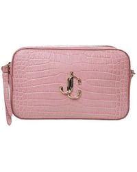 Jimmy Choo Varenne Cross Body Bag In Calf Leather Colour Pink