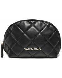 Valentino By Mario Valentino Ocarina Quilted Beauty Bag Colour: Black
