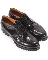 Barracuda Leather Derby Lace Up - Black