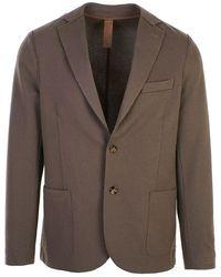 Eleventy Men's 979ja3001jac23022 Brown Cotton Blazer