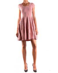 DSquared² - Pink Sweater Mini Dress - Lyst