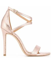 Michael Kors Women's 40s0atha1e857 Pink Leather Sandals