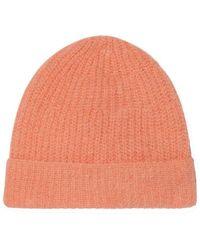 American Vintage Rozy Beanie Hat - Peach - Orange