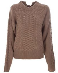Covert Crew Neck Sweater - Brown