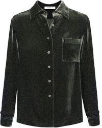 Nrby Pattie Velvet Button Thru Shirt - Black