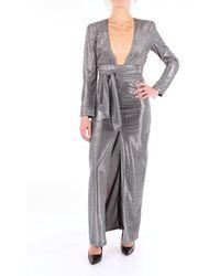 ACTUALEE Dress Long Women Silver - Metallic