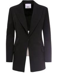 Erika Cavallini Semi Couture Virgin Wool Balzer - Black