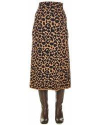 Hayley Menzies Midi-skirt In Animal Print - Multicolour