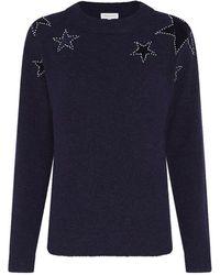 FABIENNE CHAPOT Star Pullover - Navy - Blue