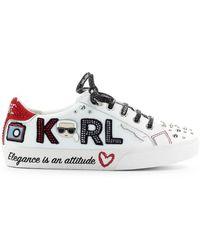 Karl Lagerfeld Skool Jewel White Red Sneaker