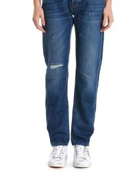 Roy Rogers Roy Roger's Ines80rockstworoses999 Cotton Jeans - Blue