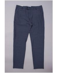 Les Deux Como Herringbone Suit Trousers Colour: Dark Navy - Blue