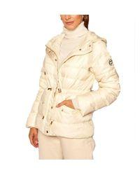 MICHAEL Michael Kors Michael Kors - Down Jacket With Hood - Bone - Natural