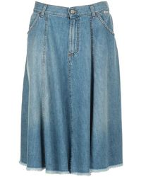 Roy Rogers Skirts Denim - Blue