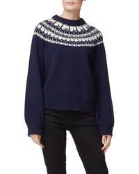 J Brand Harriet Fair Isle Sweater - Blue