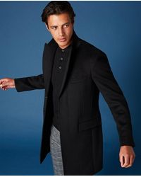 Remus Uomo Raeburn Black Overcoat