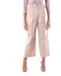 Max Mara S Maxmara Pants Cropped Women Camel - Brown