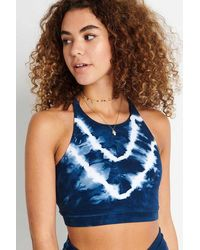 Electric and Rose Grayson Tie Die Crop - Indigo / Cloud - Blue