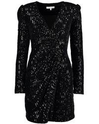 Silvian Heach Chained Sequin Tux Dress - Black