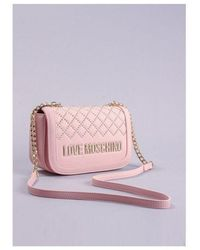 Love Moschino Quilted Mid Bag Colour: Pink