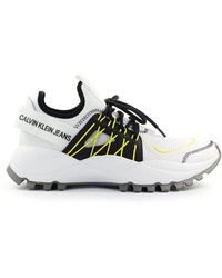 Calvin Klein Men's B4s0663100 White Fabric Trainers