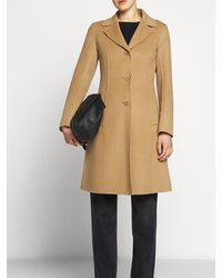 Weekend by Maxmara - uggioso Virgin Wool Coat In Camel 50160109 - Lyst