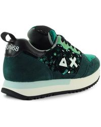 Sun68 Kelly Paillettes Trainer - Green