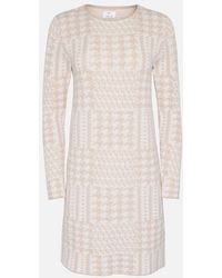 Allude Ivory Cashmere Round Neck Dress - Multicolor