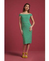 King Louie Iris Dress Breton Stripe - Green