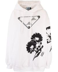 Prada Women's 1346211ytpf0964 White Other Materials Sweatshirt