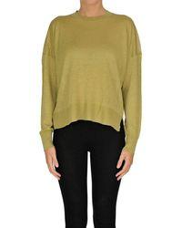 Theory Linen-blend Pullover - Green